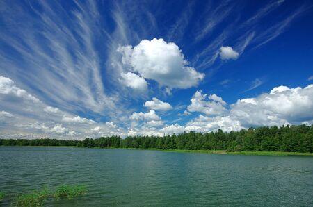 idyllic: Idyllic Swedish landscape in the summer Stock Photo