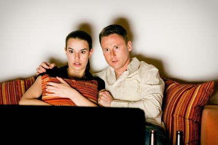 pareja viendo tv: Couple Watching Tv