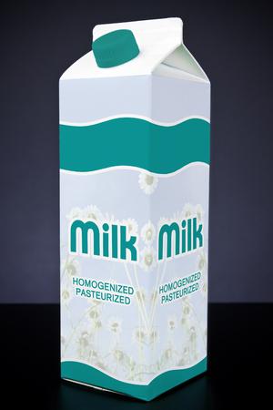 envase de leche: La leche de cartón Foto de archivo