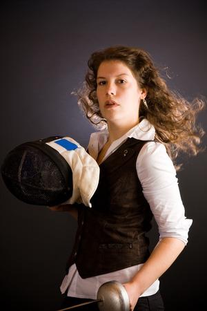 esgrima: Fencing Business Woman
