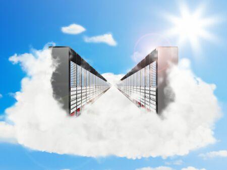 remote server: Cloud Computing Concept Stock Photo
