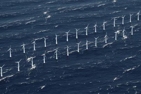 Off-shore Wind Power Station 写真素材