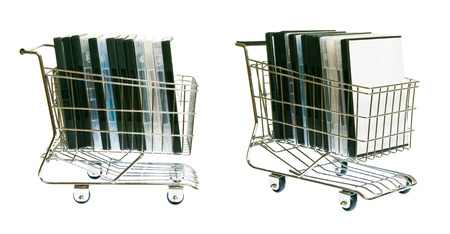 shopping cart: Shopping Cart With Dvds