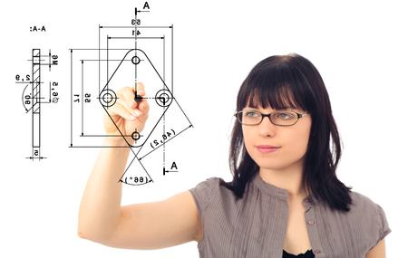 thinking machines: Mechanical Engineering Concept Stock Photo