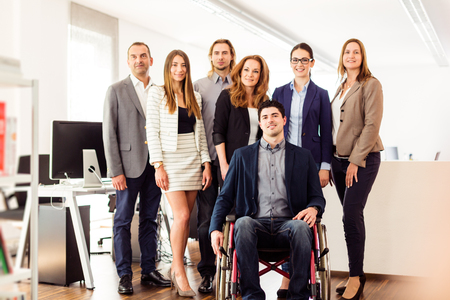Small Business Team In Their Office Stock Photo