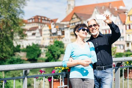 Senior Couple in Tuebingen, Germany Stock Photo