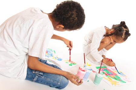 mixed race: Painting Mixed Race Kids