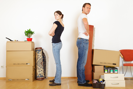 Young Couple Separating Standard-Bild