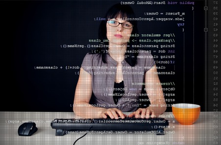 Young Woman Writing A Networking Program