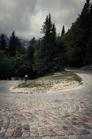 switchback: Switchback In The Slovenian Alps Stock Photo