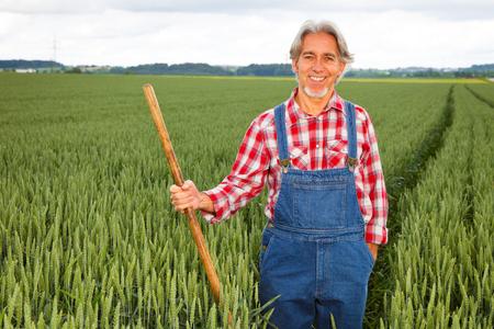 Farmer Walking Through Cereal Field