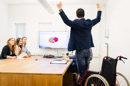 paralyzed: Huge Success: Previously Paralyzed Guy Walks Again Stock Photo