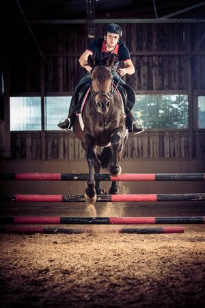 indoors: Indoors Horse Jumping