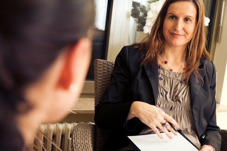 Patient Talking to Psychotherapist Stock Photo