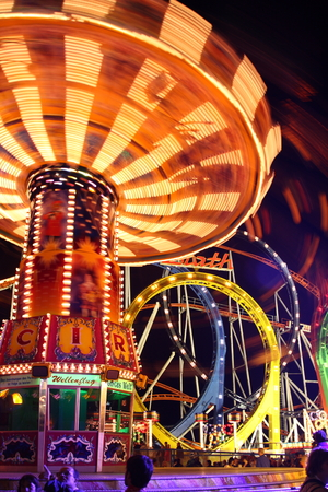 Caroussel ride at the Oktoberfest Stock Photo