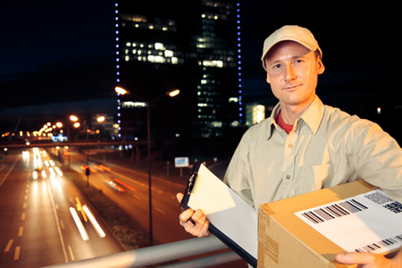 Overnight Parcel Delivery 写真素材