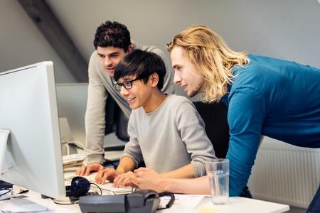 Tech Start-up Founders Working Banco de Imagens