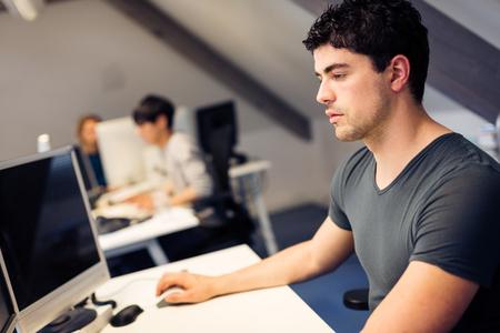 Tech Start-up Founders Working Standard-Bild