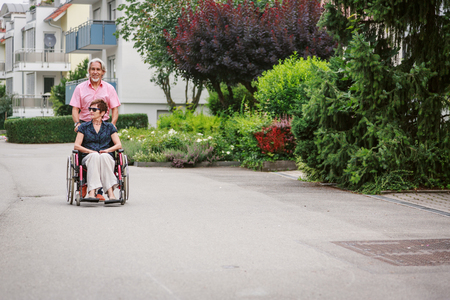 Senior People in Wheelchair
