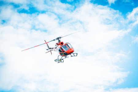 Red Helicopter 스톡 콘텐츠