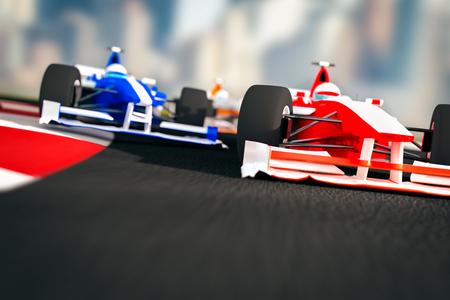 Formula 1 Racing Cars Stock Photo