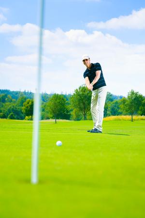 Golf Player Putting