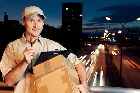 Overnight Parcel Delivery Stock fotó