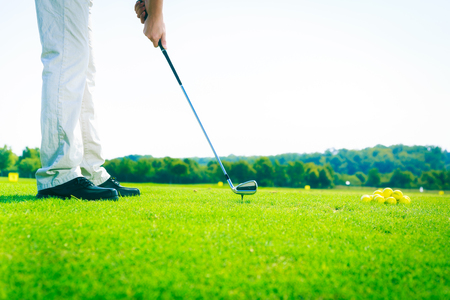 Golf Player Practicing
