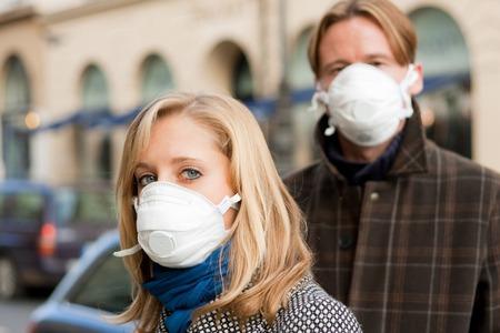 People Wearing Flu Protection Masks