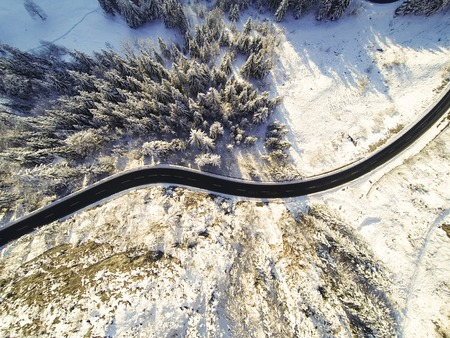 curve road: Mountain Road Winding Through The German Alps