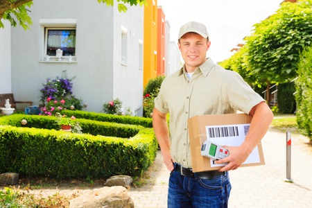 Delivery Boy In Residential Area