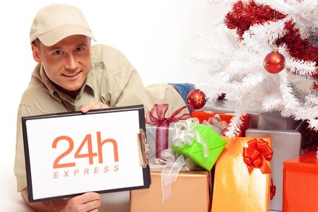24 Hour Express Delivery, Even On Christmas Stock Photo