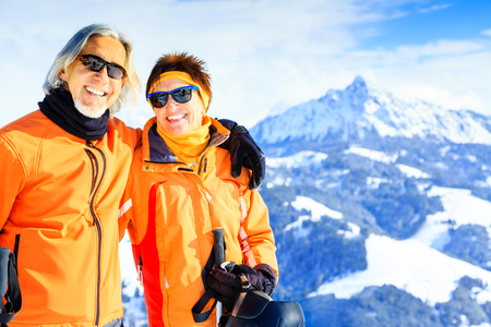 Senior Couple In The Mountains