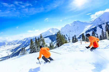 Senior Couple Skiing 写真素材