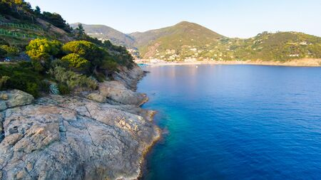 Mediterranean Coast Near Bonassola, Cinque Terre, Italy