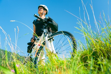 Seniors With Mountain Bikes