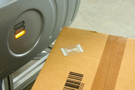 Rfid Label On Box 写真素材