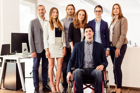 Small Business Team In Their Office Stockfoto