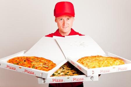Pizza Delivery Boy Reklamní fotografie