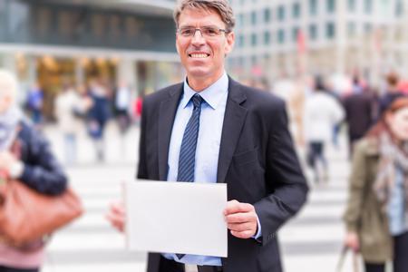 Businessman In The Street Zdjęcie Seryjne