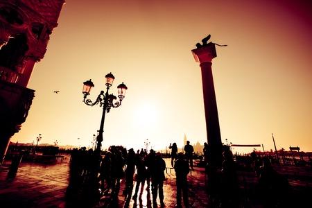 Tourists In Venice Zdjęcie Seryjne