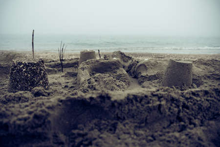 Mediterranean Sea Beach on a Foggy Day