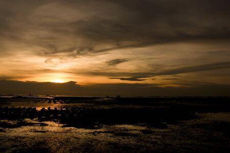 Sunset on Bangsaen Thailand