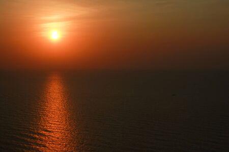 Sunset on Cha-Um beach2 Stock Photo