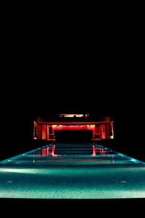 Pool in night photo