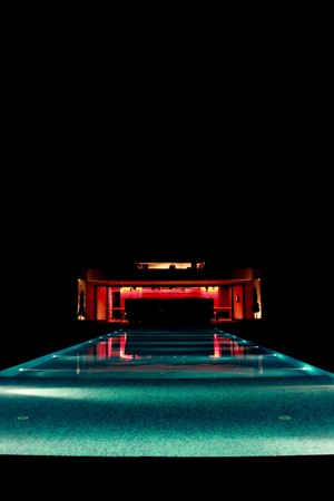 Pool in night Stock Photo