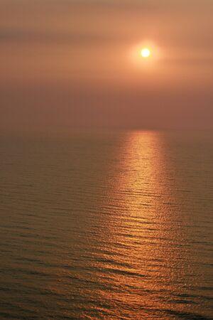 Sunset on Cha-Um beach1 Stock Photo