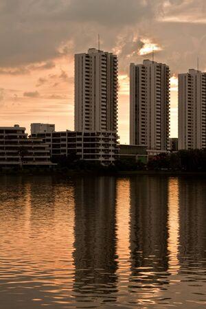 Building near lake
