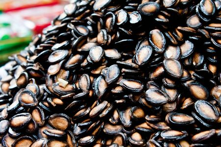 Dried watermelon seeds Stock Photo