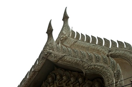 The gate of wat in Thailand